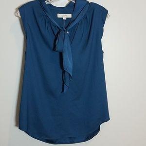 [Loft] Front Tie Sleeveless Blouse NWT